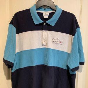 Men's Lacoste Polo Shirt Black Big Croc Logo